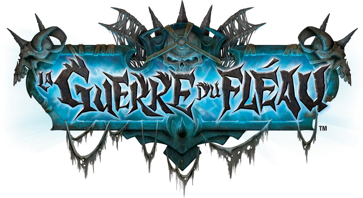 Logo de l'extension La Guerre du Fléau, du jeu de cartes à collectionner WoW.