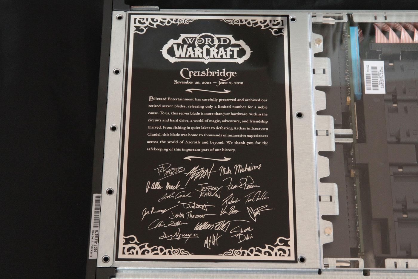 World of Warcraft Server Blade.