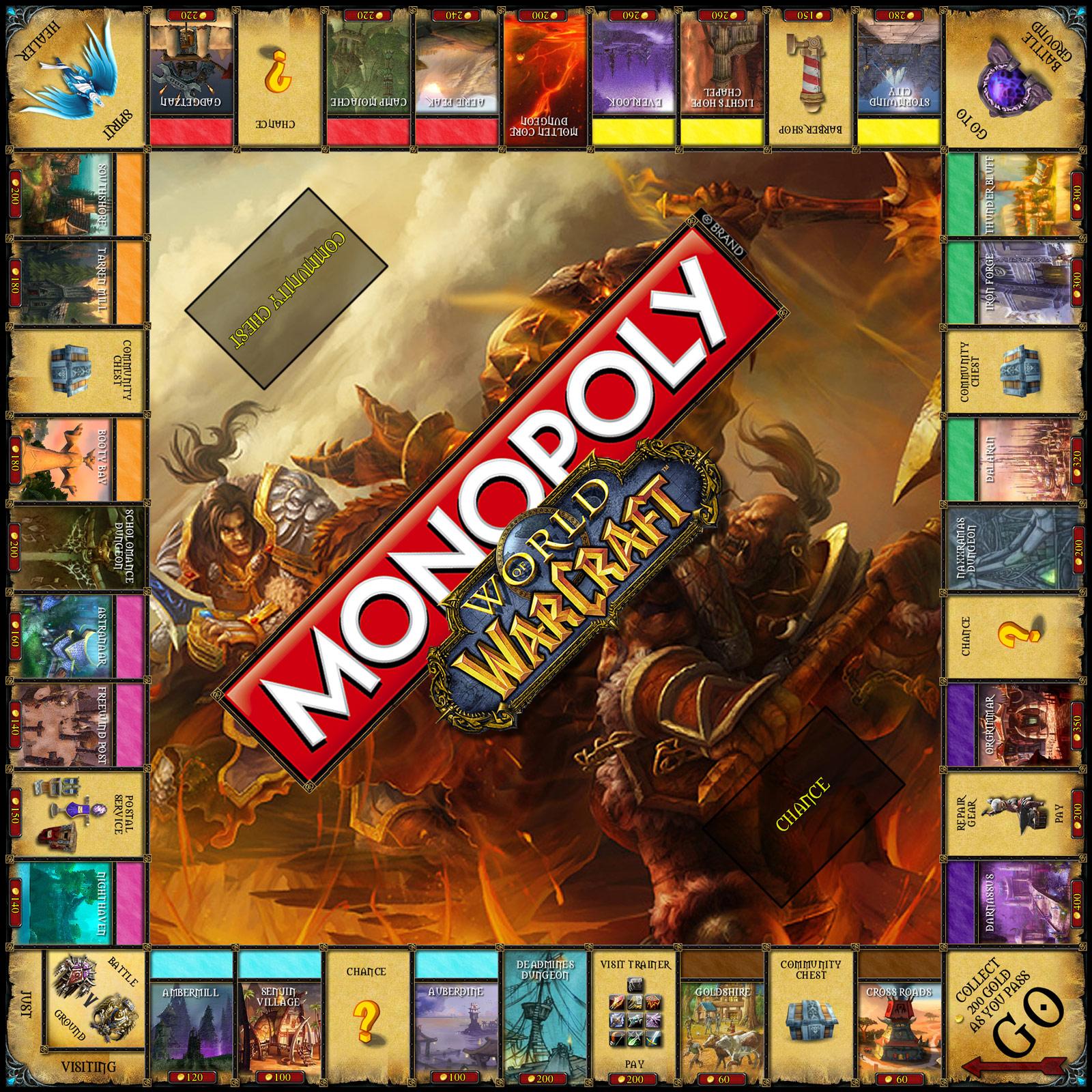 Version amateur d'un Monopoly dédié à World of Warcraft.