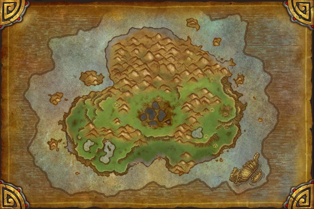 Patch 5.2: Carte de l'Île du Tonnerre.