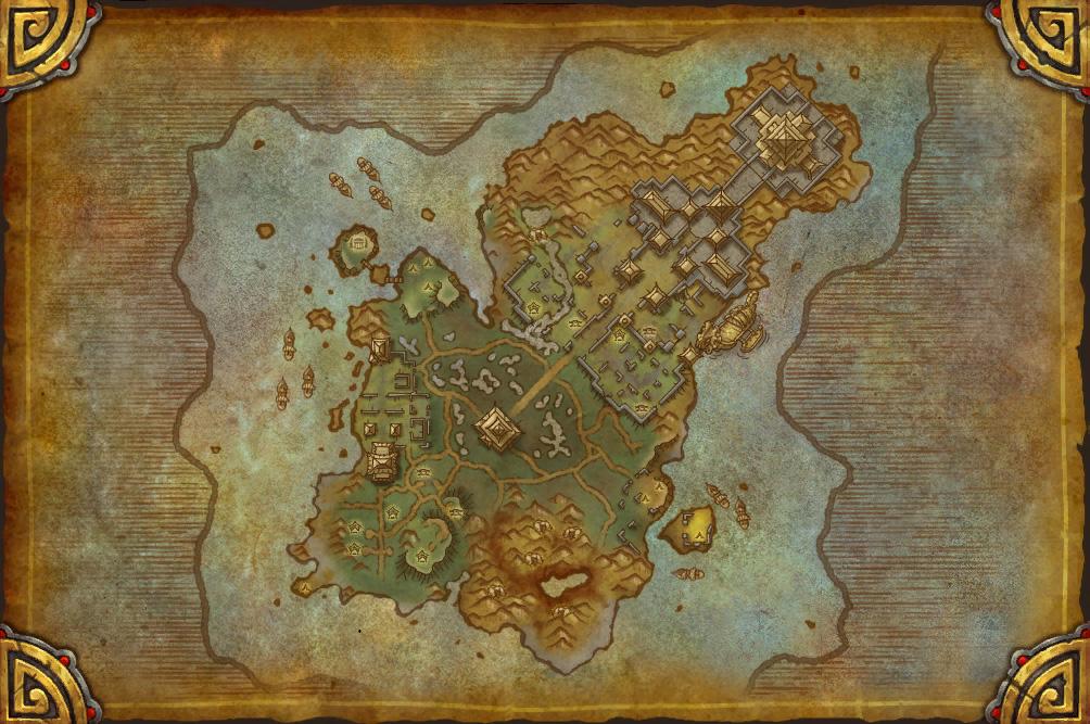 Patch 5.2: Carte de l'Île des Géants.