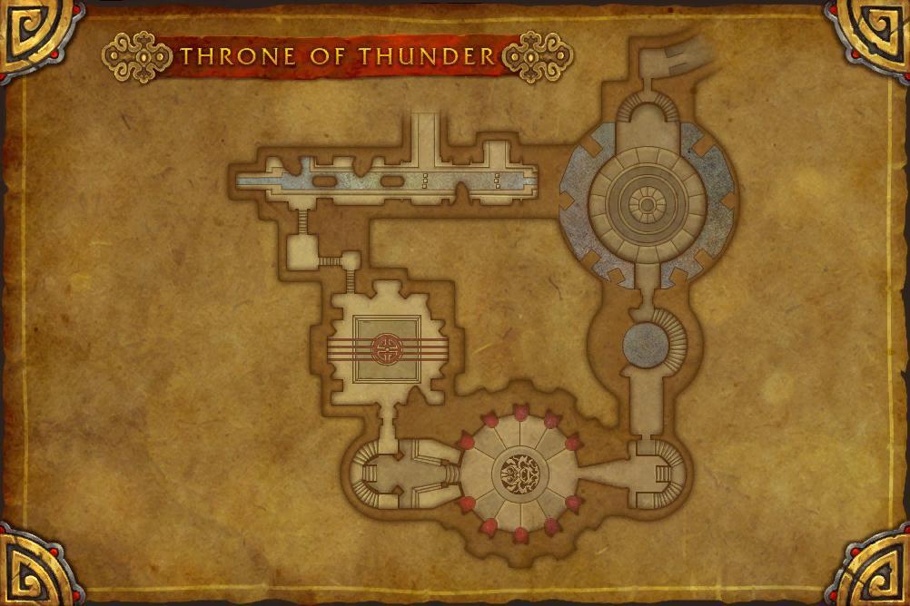 Patch 5.2: Carte du raid de l'Île du Tonnerre.