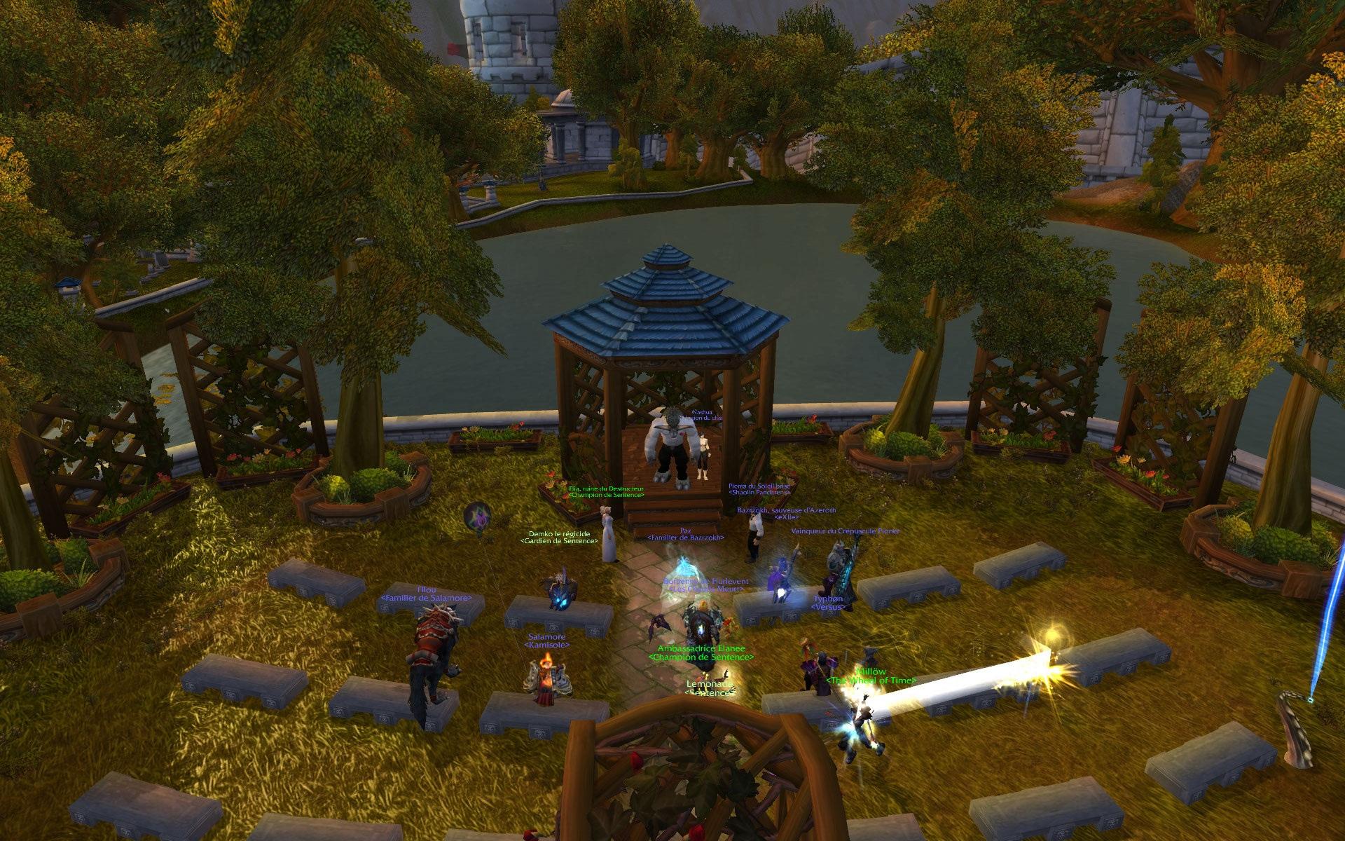 Screenshot réalisé par Cornedure lors du mariage de deux membres de la guilde Sentence sur Ner'zhul.