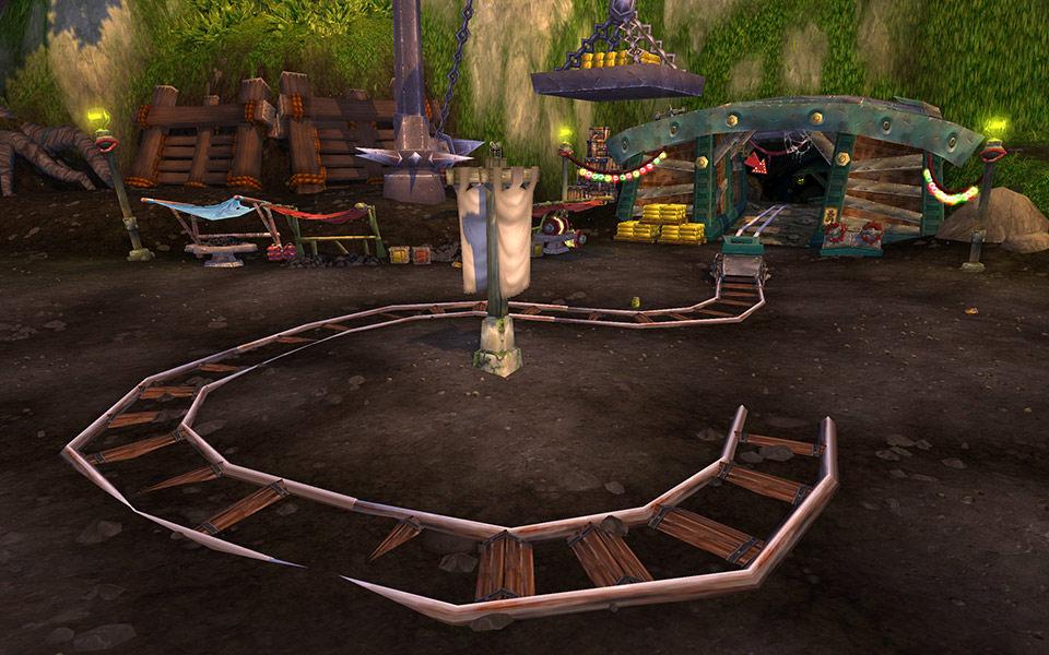 Screenshot du patch 5.3 de World of Warcraft: la gorge de Vent-Caverneux.