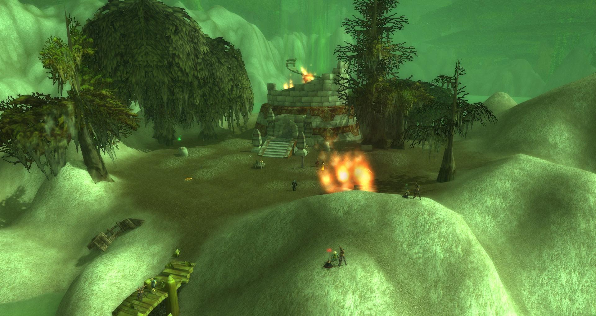 Screenshot du Lac Dumont (Nord de Féralas) dans World of Warcraft.