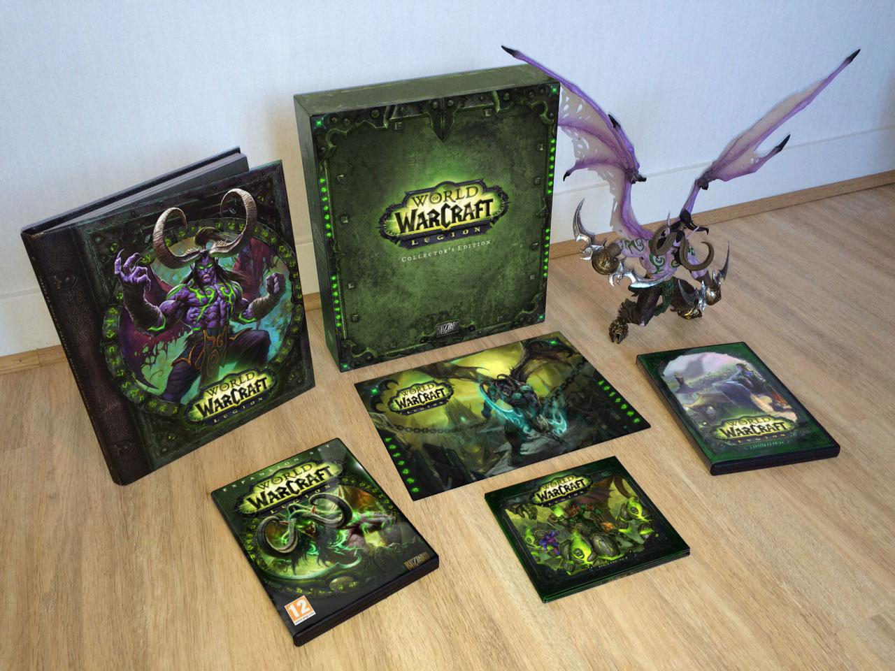 Une fausse édition Collector de World of Warcraft: Legion réalisée par Psychocat.