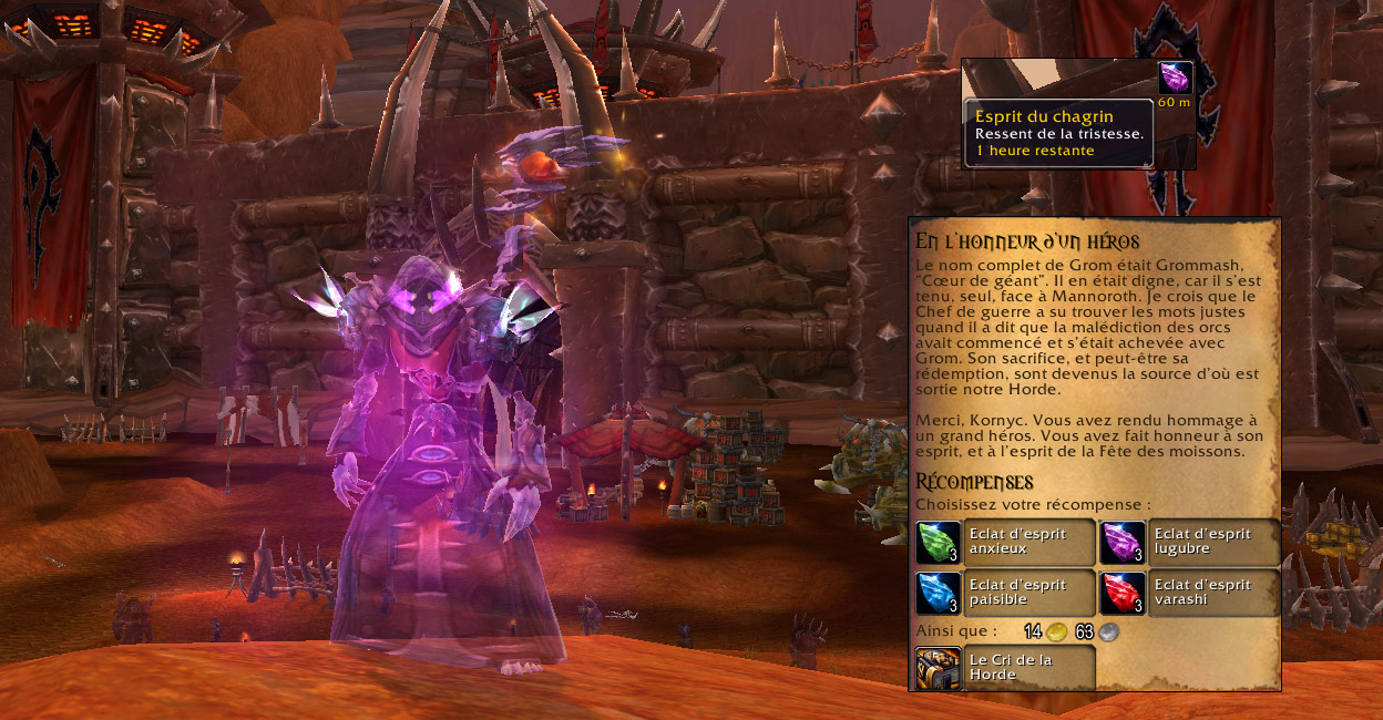 Screenshot de la fête des Moissons sur World of Warcraft, édition 2015.