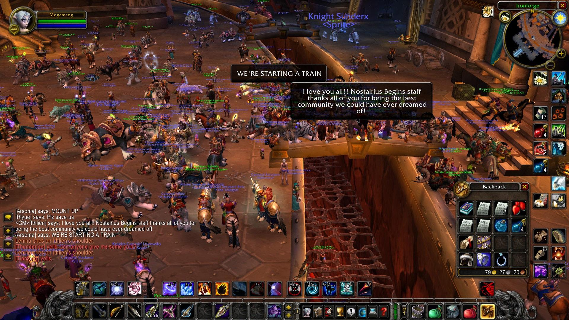 Screenshot de Nostaldrius, serveur privé pour World of Warcraft.