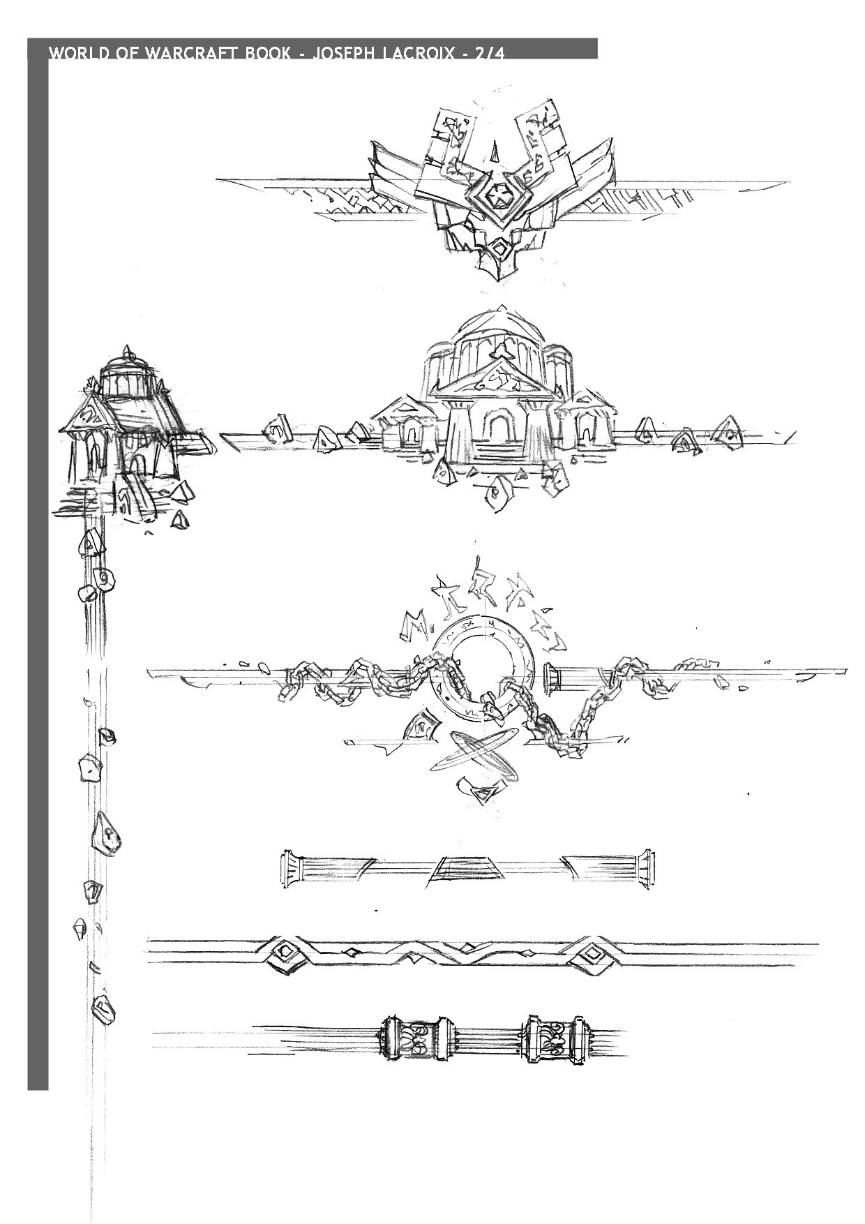 Dessin réalisé par Joseph Lacroix pour World of Warcraft: Chronicle Volume 1.