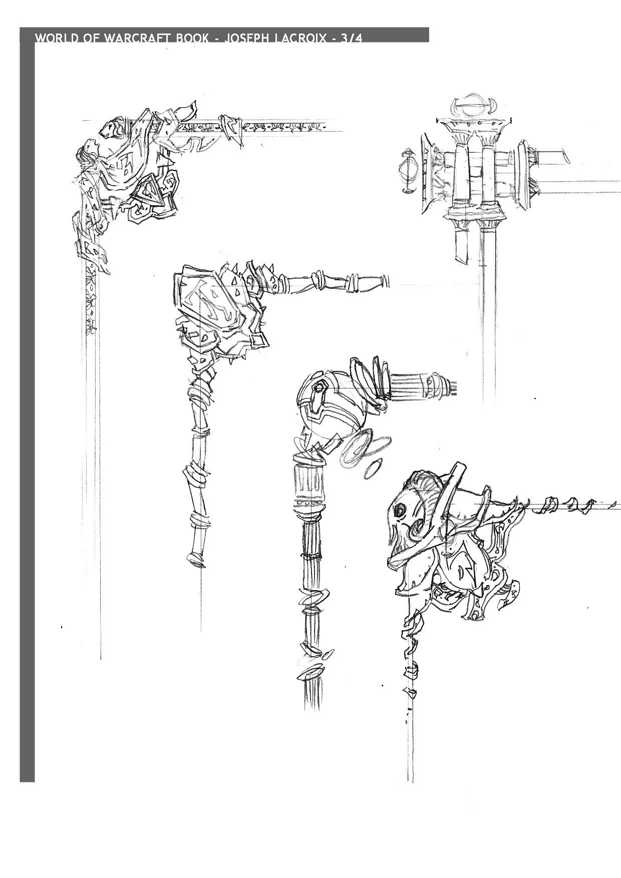 Dessin réalisé par Joseph Lacroix pour World of Warcraft: Chronicle Volume 1.