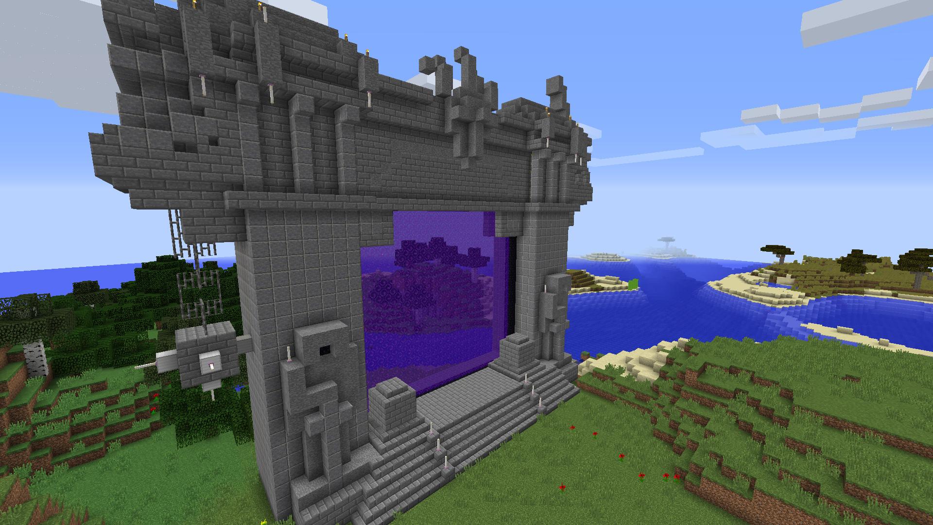 Reproduction de la porte des t n bres dans minecraft for Porte and minecraft