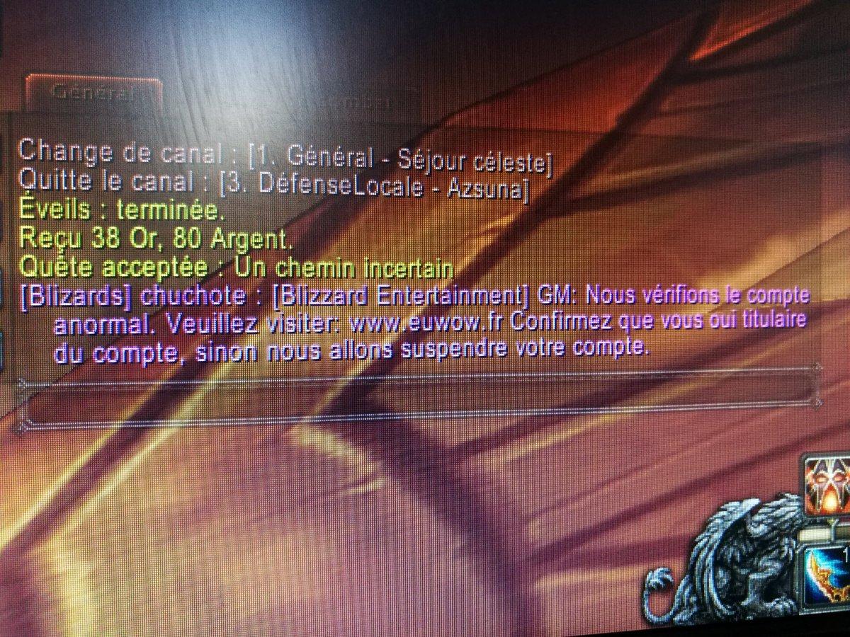 Exemple d'une arnaque sur World of Warcraft. Screenshot réalisé par Ramen.