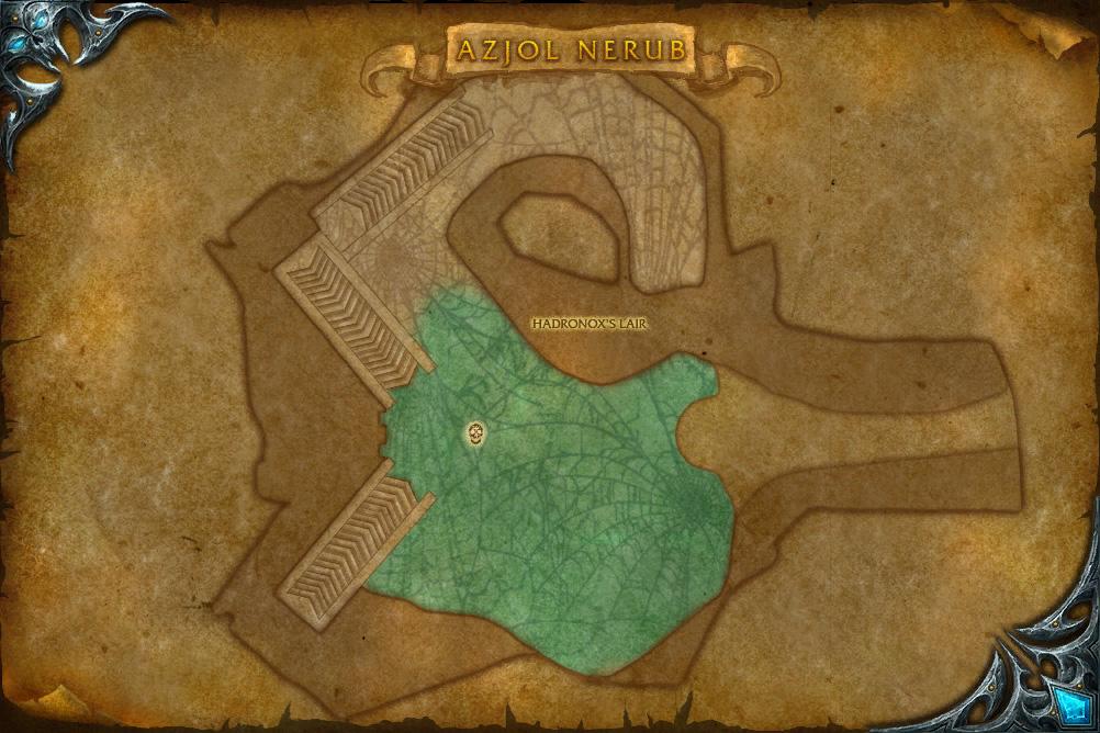PTR 3.1 : Carte de Azjol-Nérub