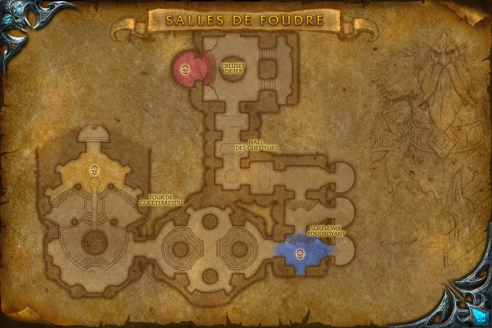 PTR 3.1 : Carte de Les salles de Foudre