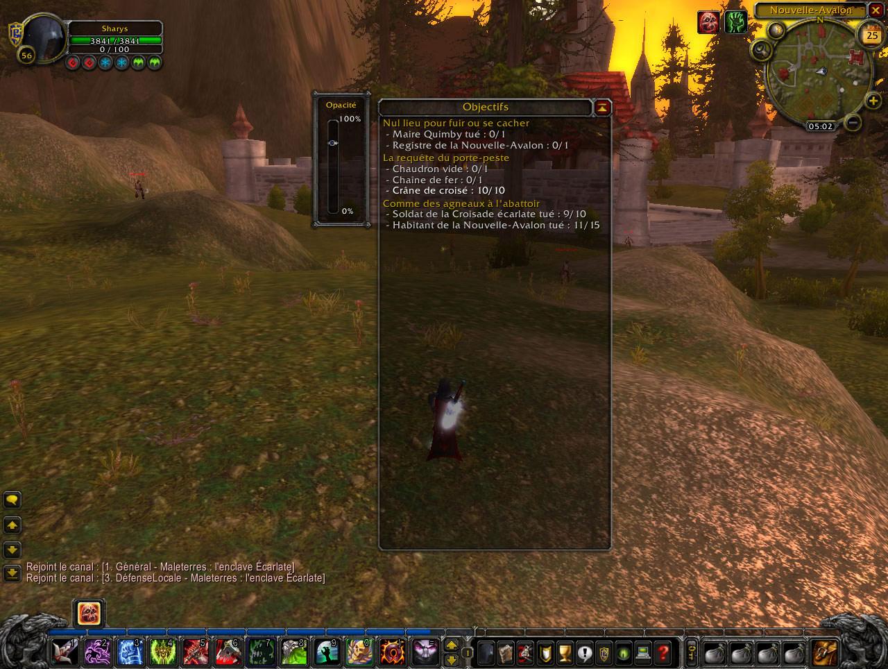Screenshot du patch 3.1 sur les royaumes de test : Assistance pour les quêtes.