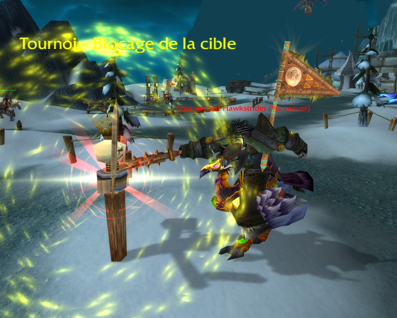 Screenshot du patch 3.1 sur les royaumes de test : Combat en monture.