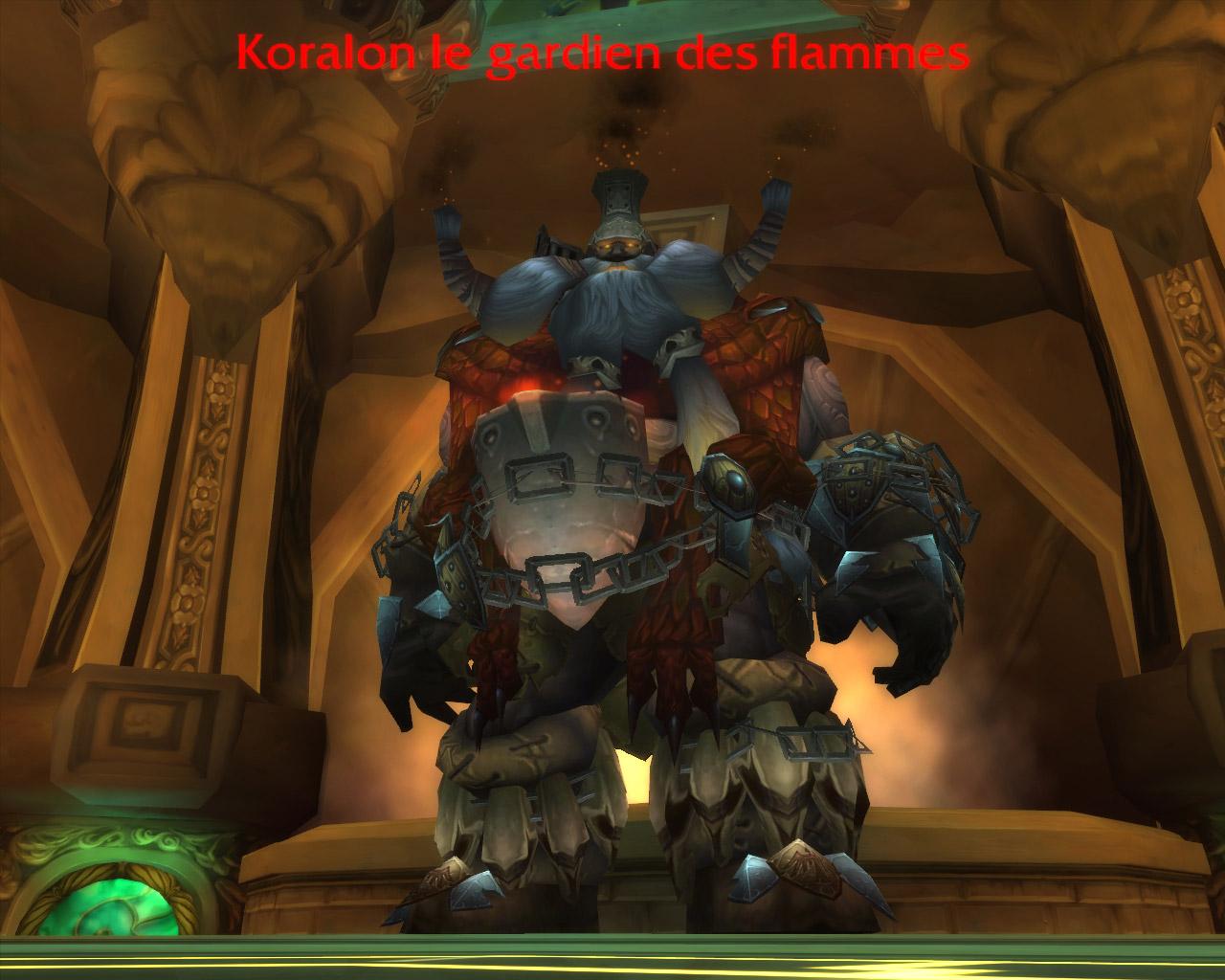 PTR 3.2 : Koralon le gardien des flammes au Caveau d'Archavon