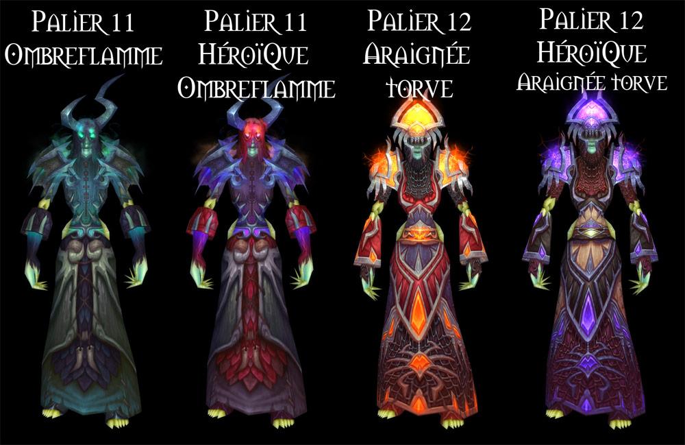Sets d'armure Tier 11 à 12 du Démoniste