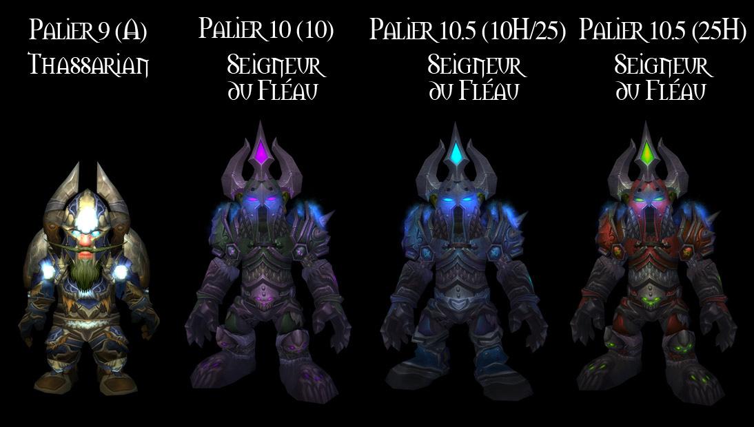 Sets d'armure Tier 9 à 10,5 du Chevalier de la Mort.