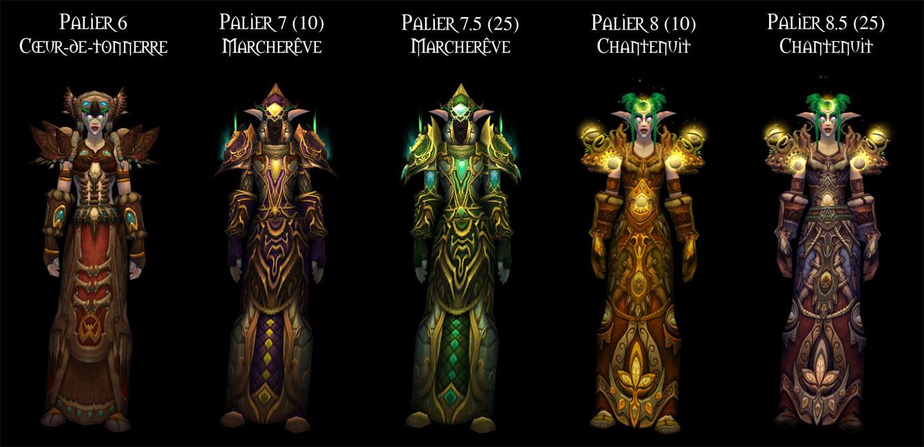 Sets d'armure Tier 6 à 8,5 du Druide.