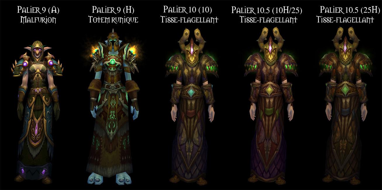 Sets d'armure Tier 9 à 10,5 du Druide.