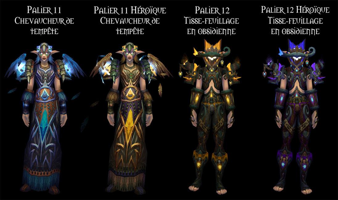 Sets d'armure Tier 11 à 12 du Druide.