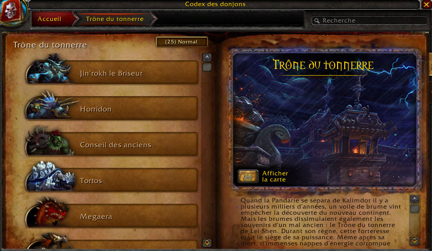 Le Codex des donjons subit une refonte dans le patch 5.3.