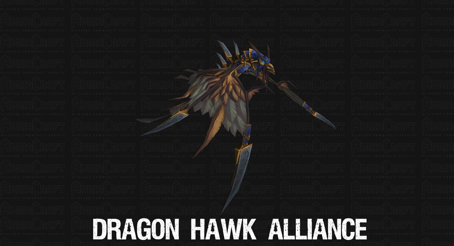 Monture offerte pour le haut fait des 200 montures: Dragon Hawk de l'Alliance.