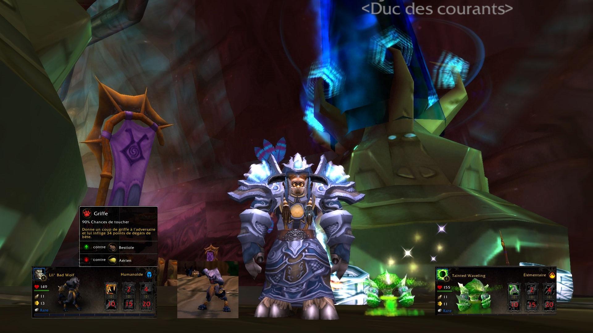 Screenshot de nouvelles mascottes du patch 5.3. Image de Khisanth.