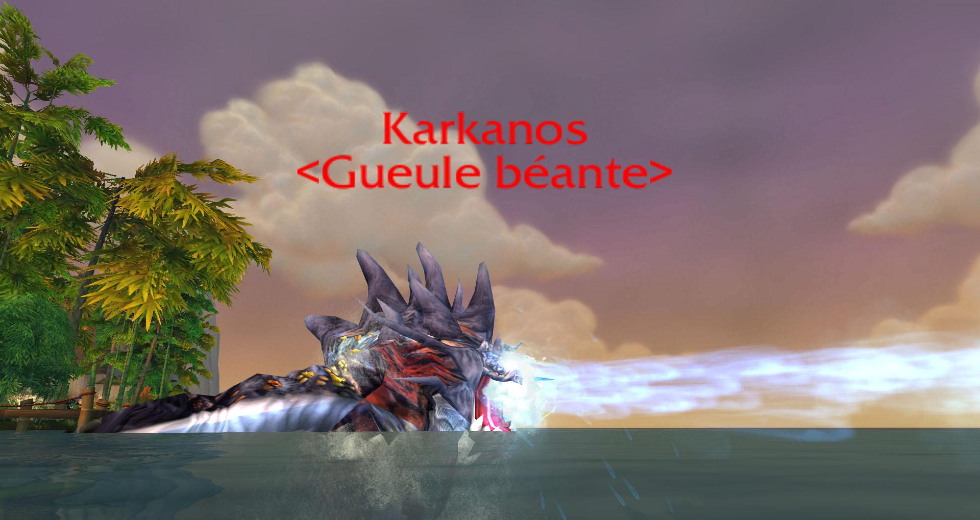 Monstre rare de l'Île du temps figé: Karkanos.