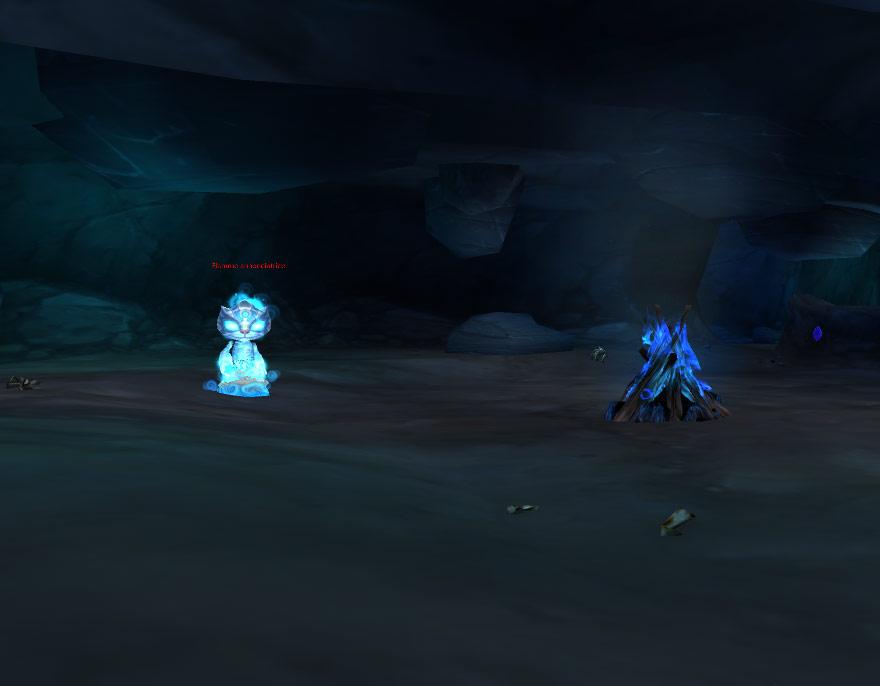 Screenshot pris dans la Caverne des esprits perdus.
