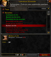 patron couture wow 3.3.5