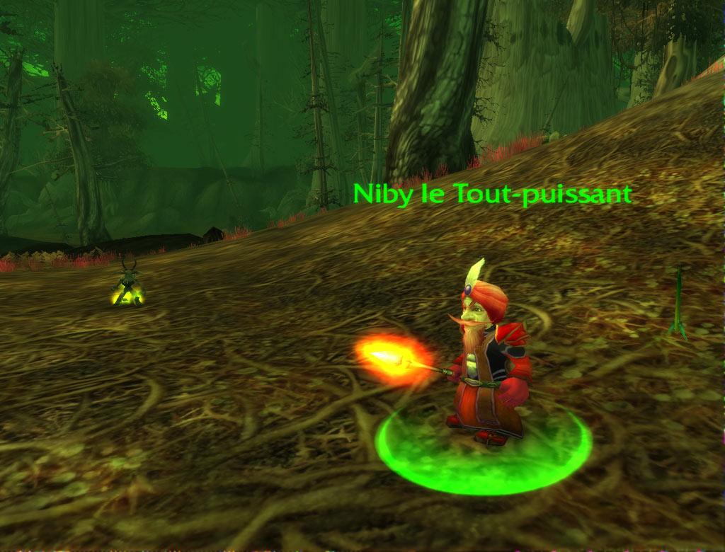 Niby le Tout-puissant, le PNJ qui vous donne la première partie de la quête de l'Infernal.