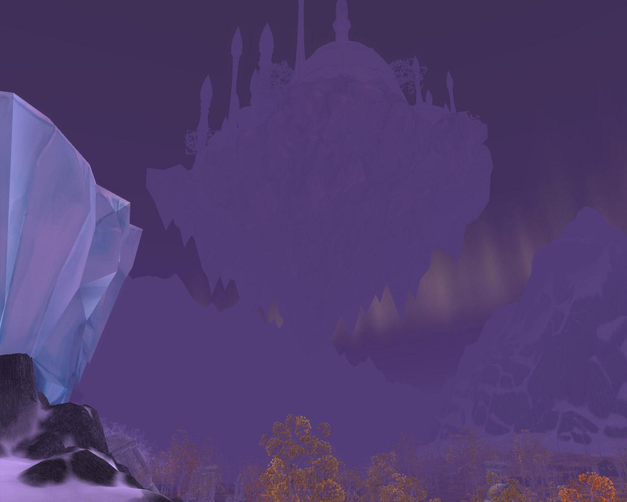 Screenshot de la beta de Wrath of the Lich King.