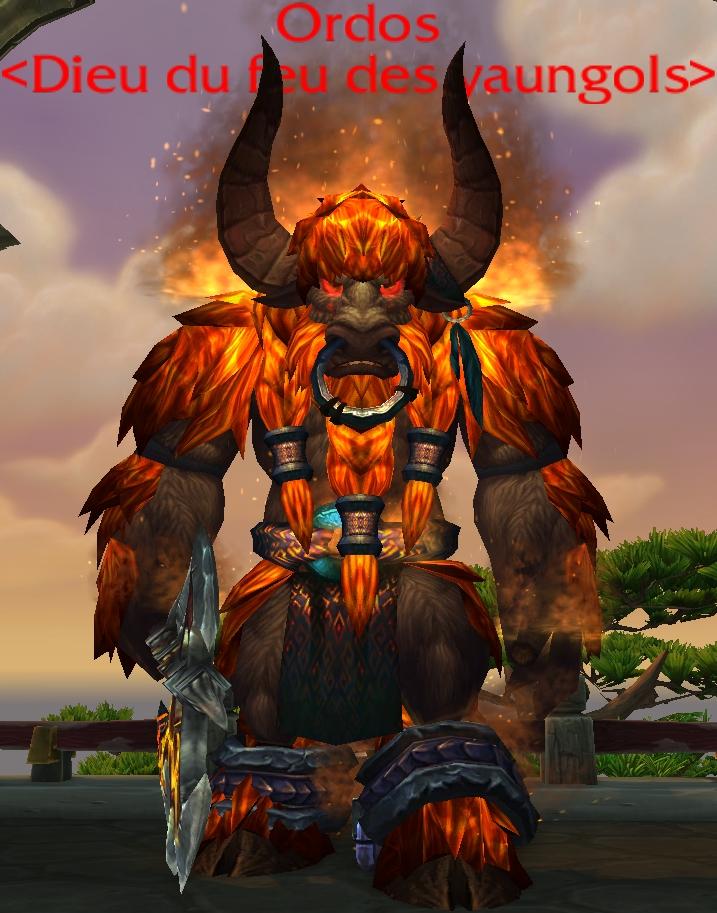 Ordos, dieu du feu des yaungols