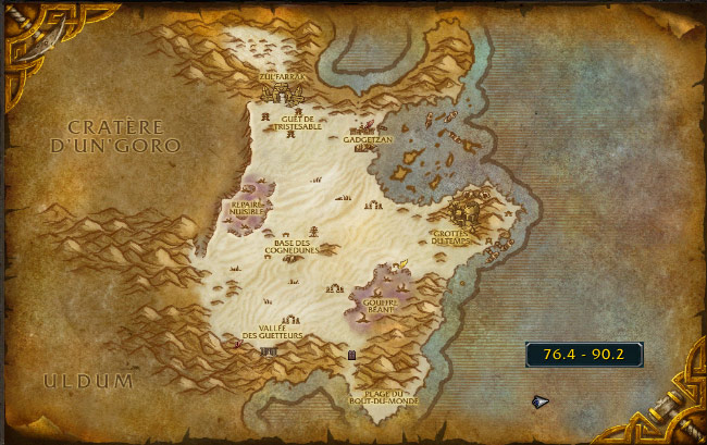 Screenshot d'un lieu insolite de World of Warcraft.